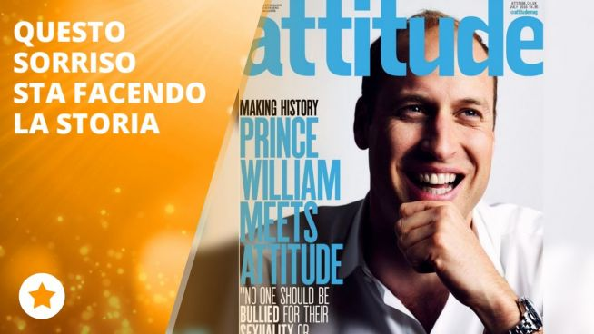 Il Principe William in copertina su un magazine LGBT